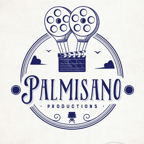 Film production logo with the title 'Palmisano Productions'