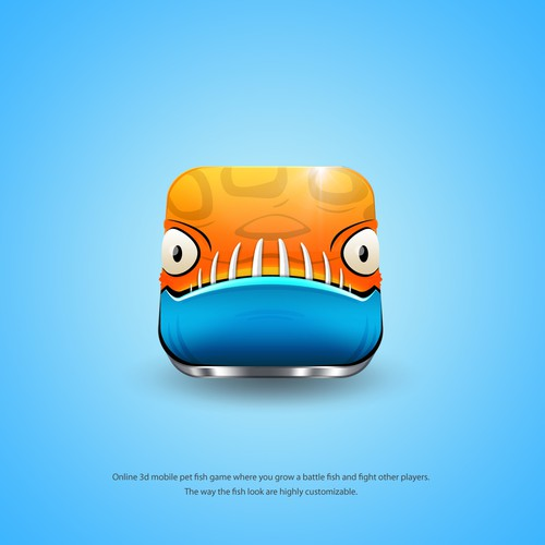 Fish design with the title 'Battle Fish Game Icon'