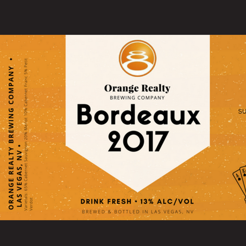 Drink label with the title 'Wine Label'