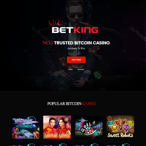 Casino website with the title 'BETKING online casino homepage.'