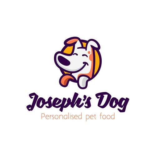Pet food logo with the title 'Joseph's dog'