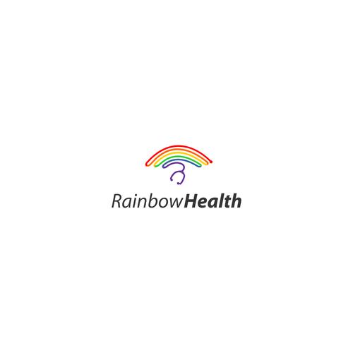 Hospital logo with the title 'Logo Design for Rainbow Health'