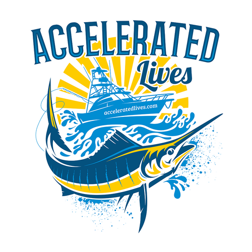 Boat t-shirt with the title 'T-Shirt Design for Acceleratedlives'