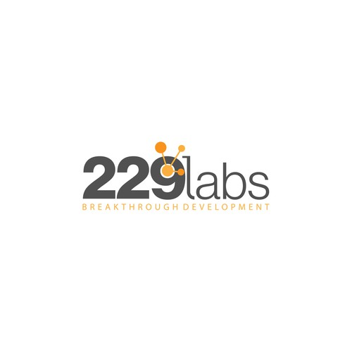 Mid-century modern logo with the title '229 Labs Logo Design'