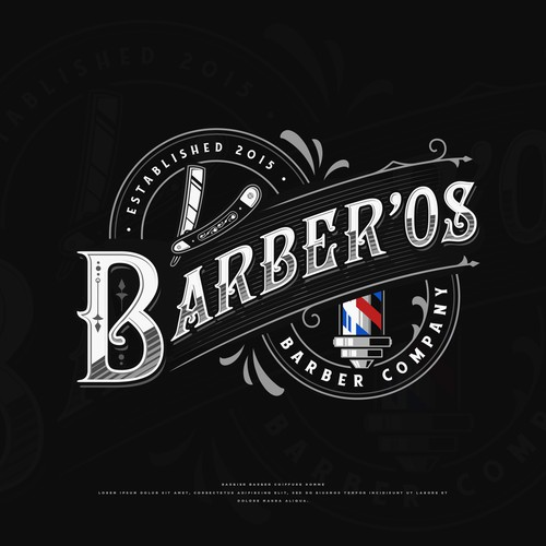 Razor design with the title 'Barber'os'