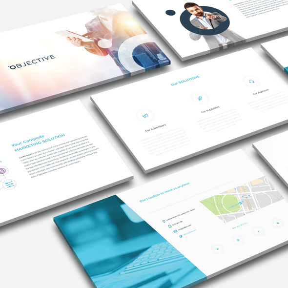 Theme design with the title 'Professional presentation theme'