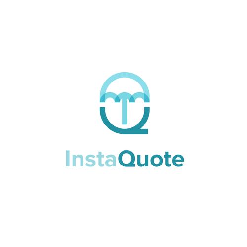Insurance logo with the title 'IQ + Umbrella'
