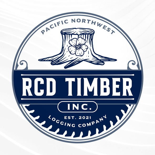 Saw blade design with the title 'RCD Timber Inc'
