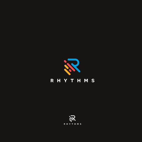 Music logo with the title 'Rhythms logo'