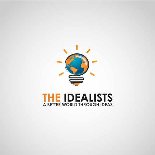 Earth brand with the title 'logofor the idealists company'