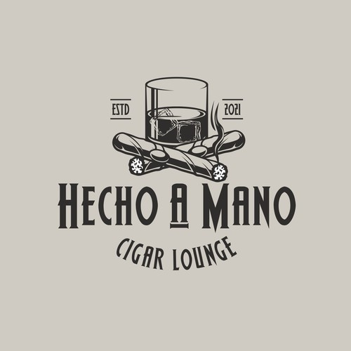 Lounge logo with the title 'Hecho a Mano Cigar Lounge'