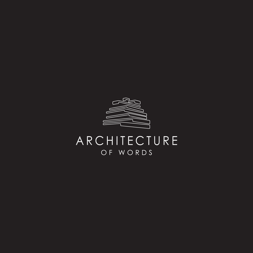 Hidden meaning logo with the title 'logo for architecture of words (based on conversation symbol)'