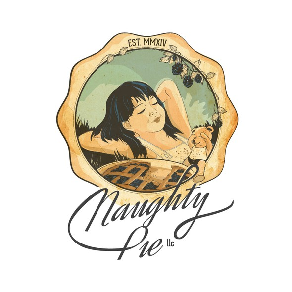 Pie design with the title 'Naughty pie'