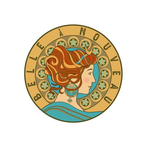 Art Nouveau design with the title 'Logo for Belle à Nuveau'