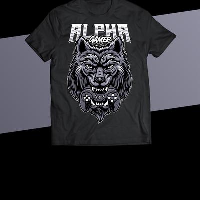 Wolf Bite Gamepad T-shirt Design