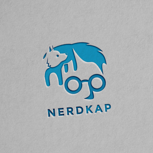 Hidden meaning logo with the title 'A Nerd with Fox Hair'