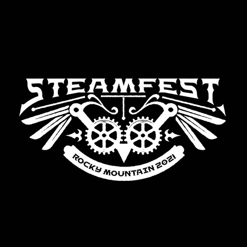 Steampunk t-shirt with the title 'Steam fest Logo proposal'