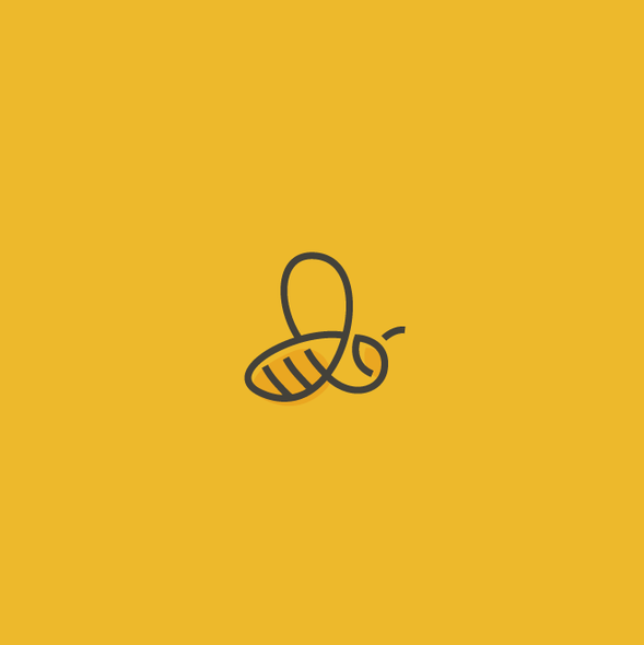 Raw design with the title 'Honey bee logo'