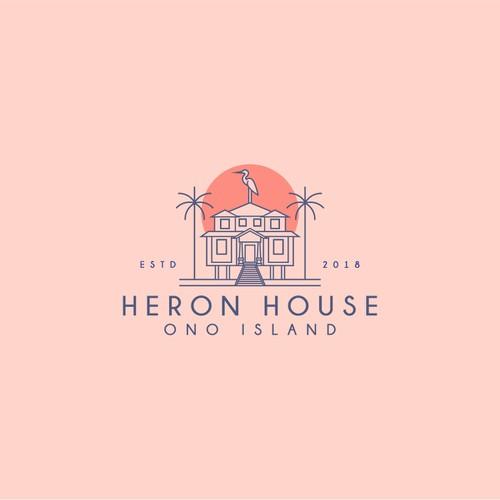 Heron design with the title 'Heron House / Ono Island'