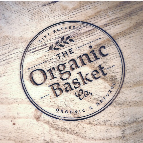 Rustic logo with the title 'Modern fresh stylish logo for The Organic Basket Co'