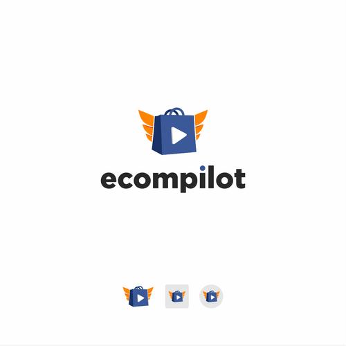 Pilot logo with the title 'eCompilot logo design'
