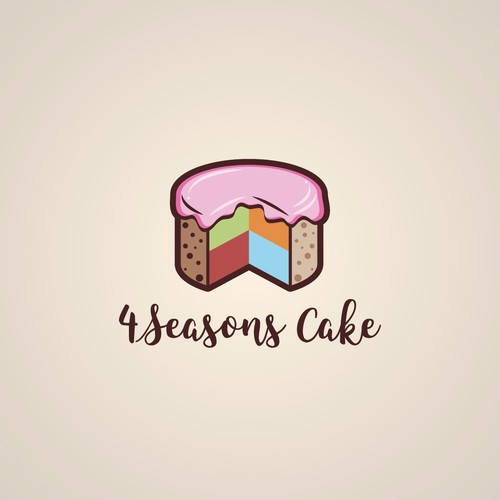 Spring logo with the title 'Cake sales business logo'