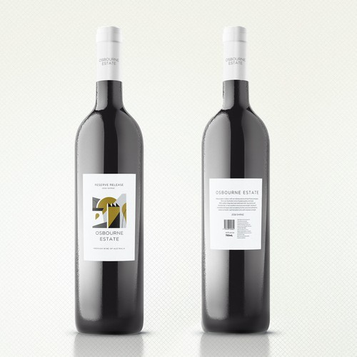 Abstract label with the title 'Wine Label'