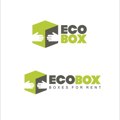 Recycling logo with the title 'ECO BOX'