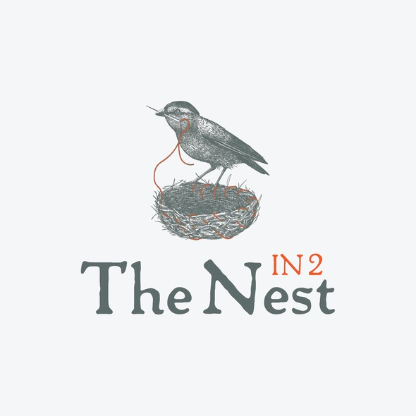 Mature logo with the title 'In 2 The Nest logo design with a smart bird'