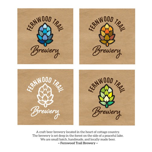 Woods design with the title 'brewery logo'