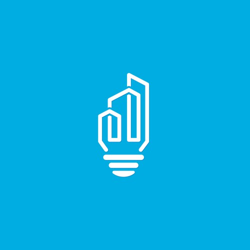 Lightbulb design with the title 'Bold logo concept for Illuminate'