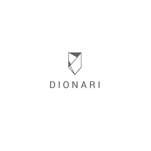 Crystals logo with the title 'Dionari - logo for glassware and home decor products '