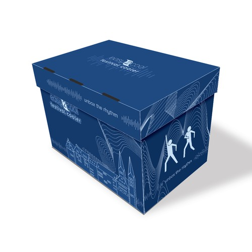 Cooler design with the title 'Box Packaging for Easy2cool GmbH'