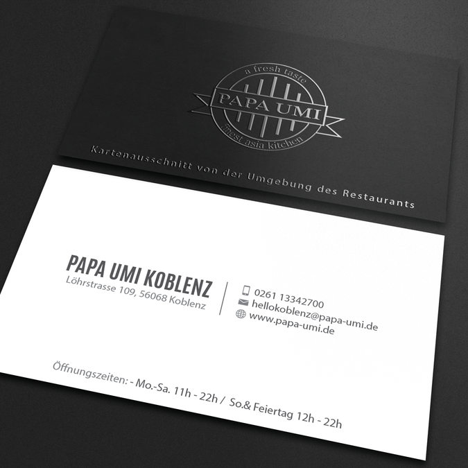Stylische Papa Umi Visitenkarte Gesucht Business Card Contest