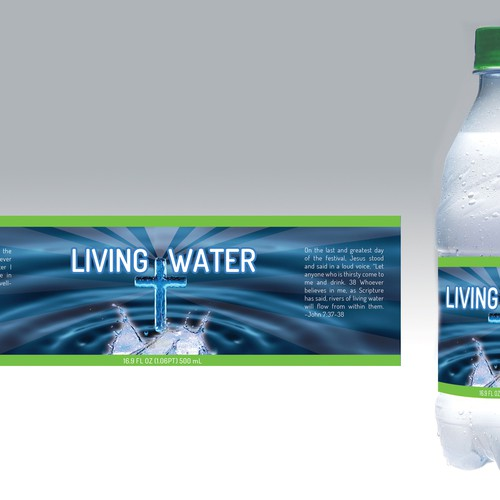 product label for living water inc product label contest