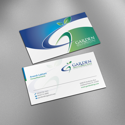 Create a catchy business card for your hometown pharmacy runner up design by designc colourmoves