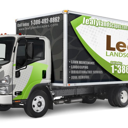 Truck wrap for leafy landscapes auto lkw oder