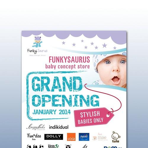 flyer design for baby online store