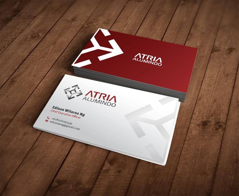 business card for Atria Alumindo | Business card contest