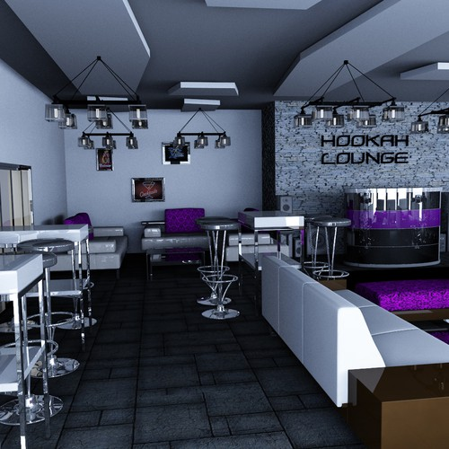 3D Realistic Interior Design for Hookah Lounge | Other design contest