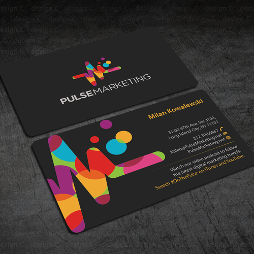 Create eye catching professional business card for digital runner up design by designc reheart Gallery