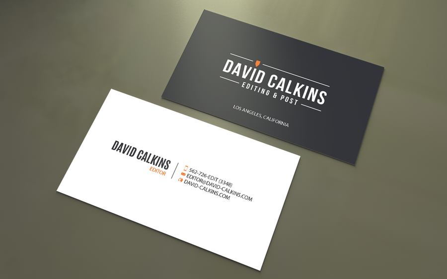 Business Card for Los Angeles based Video Editor | Business card ...