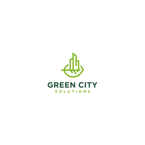 Design a modern and creative logo for Green City Solutions