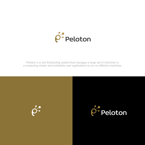 Design a hipster log for Peloton cluster scheduler system | Logo