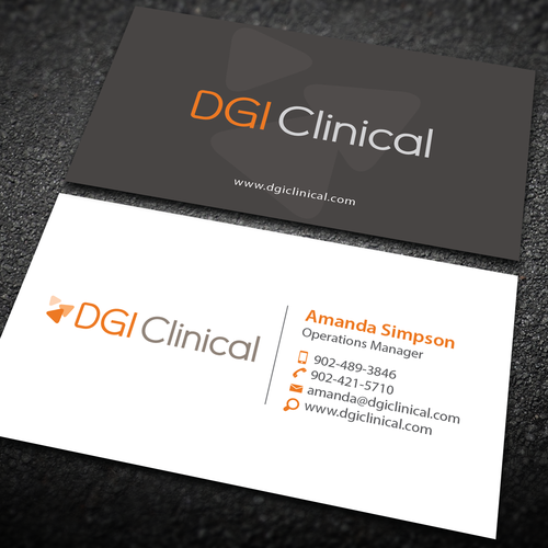 Fresh new business card for a dgi clinical medical tech and data entries from this contest colourmoves