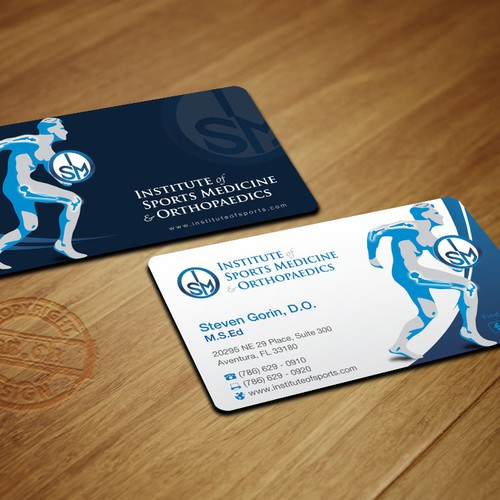 Orthopaedic surgeon in need of an updated business card stat runner up design by whte drgon reheart Gallery