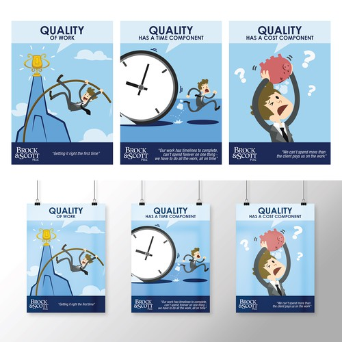 "Create A 3 Poster Series For Quarterly Theme ""Quality For"
