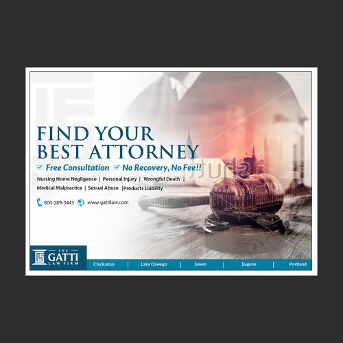 Law firm unique print advertisements. Design by Aspire Media