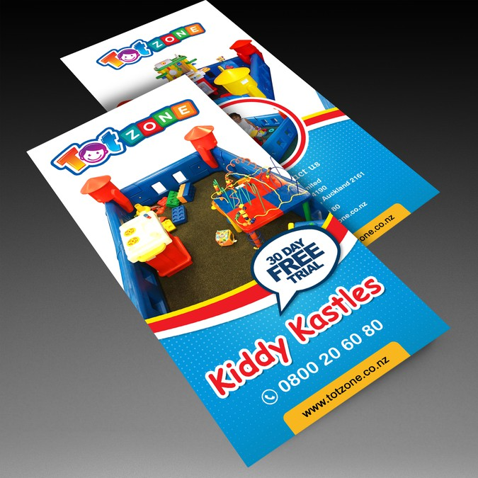 design an eye catching flyer for totzone postcard flyer or print