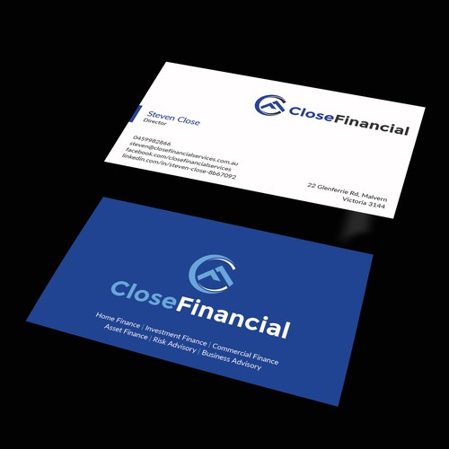 Finance business card business card contest runner up design by designnashid colourmoves